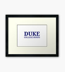 Duke College Hoops Framed Print
