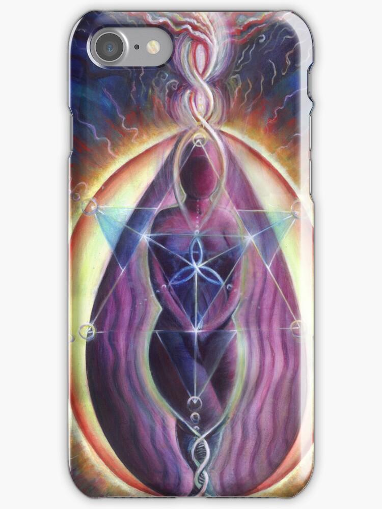 Divine Feminine iphone case by Donna Raymond