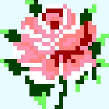 Pixel Rose by Makiechan