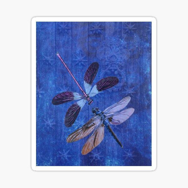 Indigo Dragonflies Sticker
