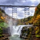 Upper Falls, Letchworth State Park by Kathy Weaver