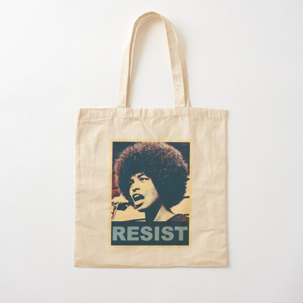 Angela -RESIST Cotton Tote Bag