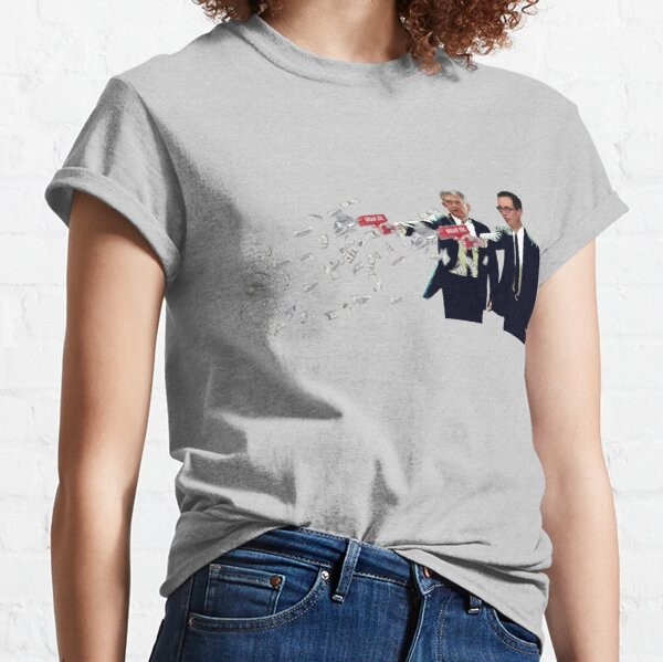Jerome Powell and Steve Mnuchin Printing Money Pulp Fiction Style Classic T-Shirt