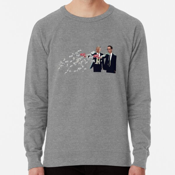 Jerome Powell and Steve Mnuchin Printing Money Pulp Fiction Style Lightweight Sweatshirt