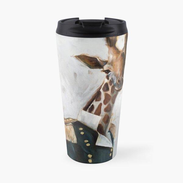 Anthropomorphic Military Giraffe portrait painting Travel Mug