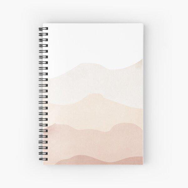 Abstrakte minimalistische Erdton-Aquarell-Hügel Spiralblock