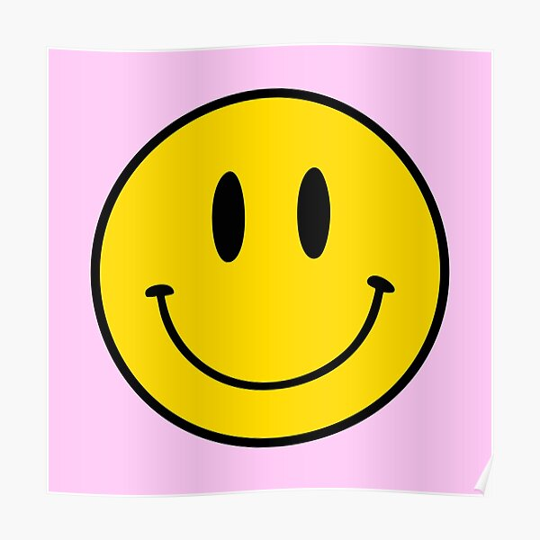Small | Happy Face | Pink | Smiley |  Poster