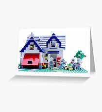 Robot Family Greeting Card