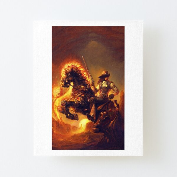Steampunk Sheriff Canvas Mounted Print