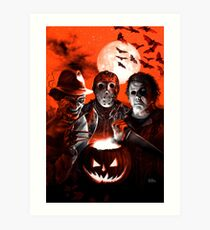 Super Villains Halloween Art Print