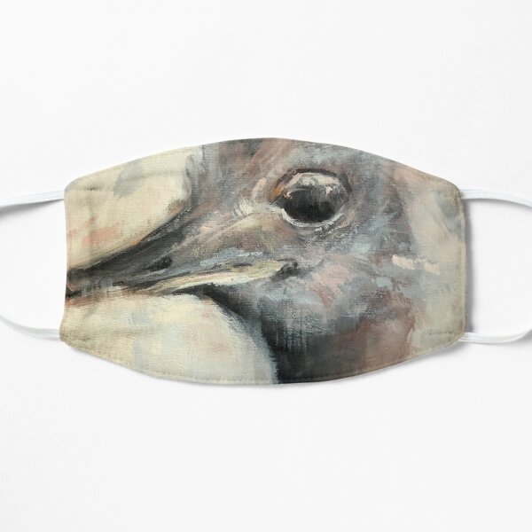 Painted Ostrich portrait Small Mask