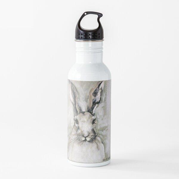 White Rabbit Portrait painting Water Bottle
