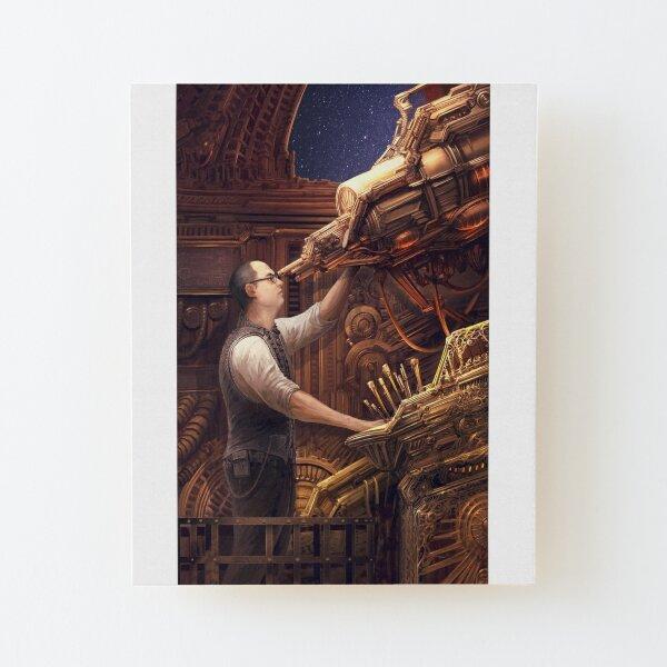 Steampunk Astronomer Wood Mounted Print