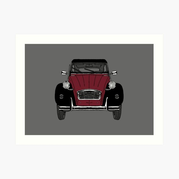 2CV Road Car Art Print