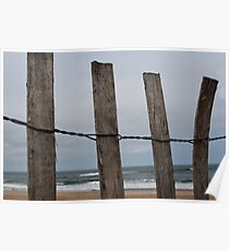 Ocean Through the Fence Poster