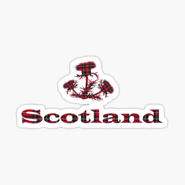 Scots Thistle Red Royal Stewart Tartan Scotland Sticker