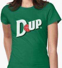 """Vict """"D-up Basketball""""  Women's Fitted T-Shirt"""