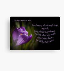 Phillipians 4:16 Canvas Print
