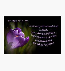 Phillipians 4:16 Photographic Print