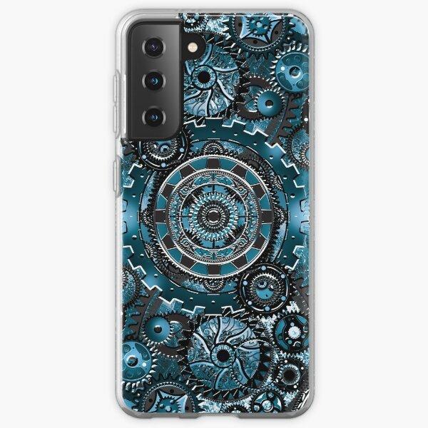 Blue Gear Wall Samsung Galaxy Soft Case