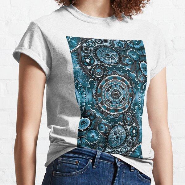 Blue Gear Wall Classic T-Shirt