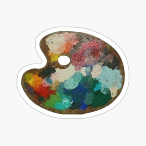 Aesthetic, Artsy Paint Pallet Design Sticker