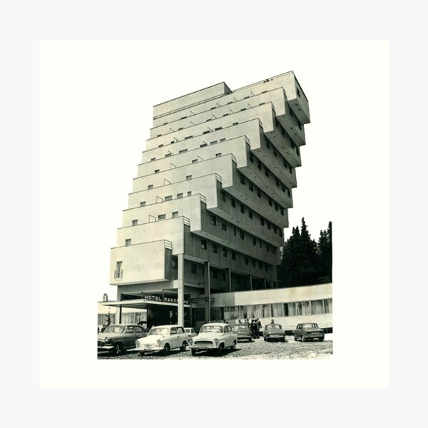 Hotel Panorama (1970), Slovakia Art Print
