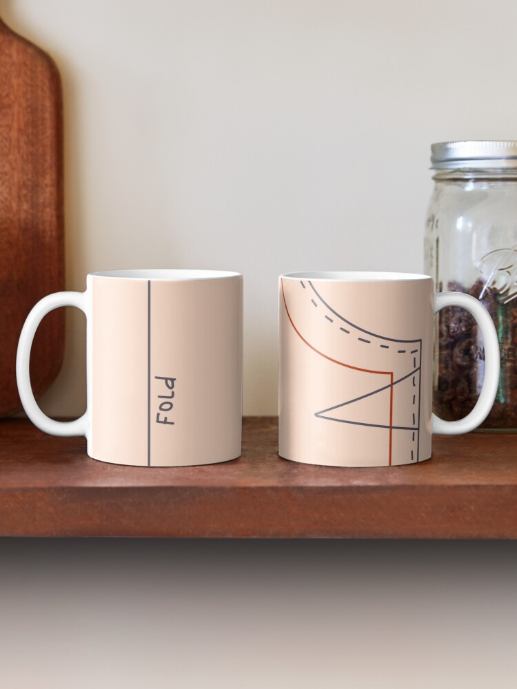 Alternate view of Sewing pattern Mug