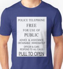 Police Telephone Box Unisex T-Shirt