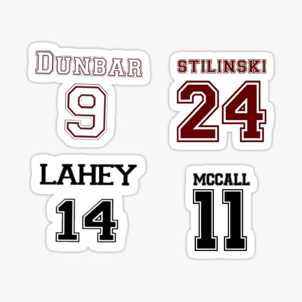 Numéros de Teen Wolf Jersey Sticker