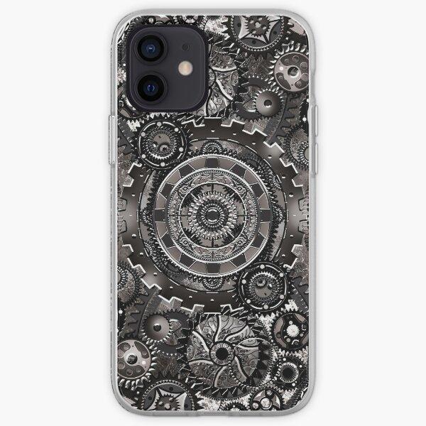 Grey Gear Wall iPhone Soft Case
