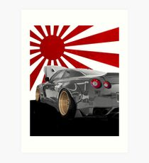 Nissan GTR Widebody Art Print