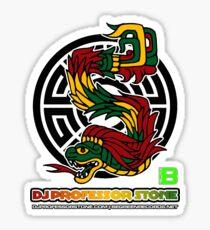 DJ Professor Stone - July 2012 Merch ver 777 black circle rasta text Sticker
