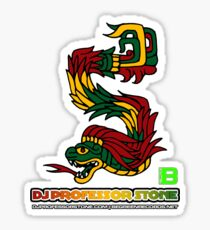 DJ Professor Stone - July 2012 Merch ver 777 no circle rasta text Sticker