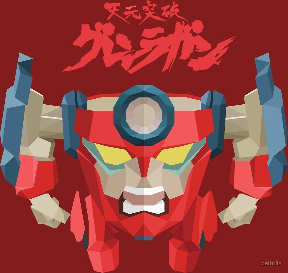 Low-Poly Lagann by calfrills