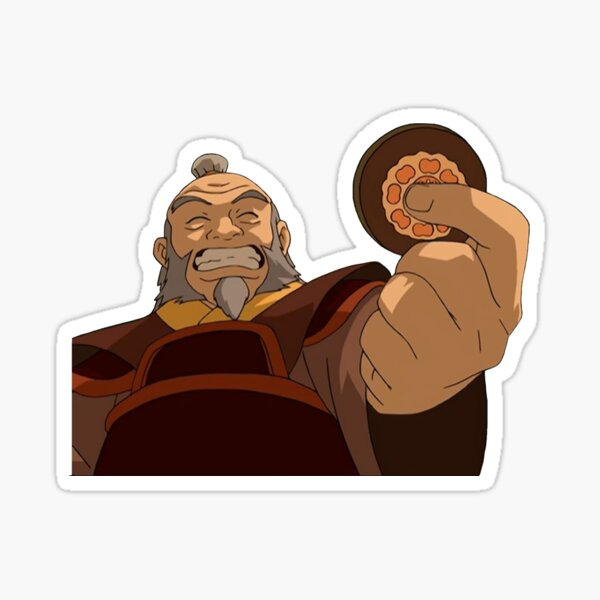 Uncle Iroh Smiling  Sticker