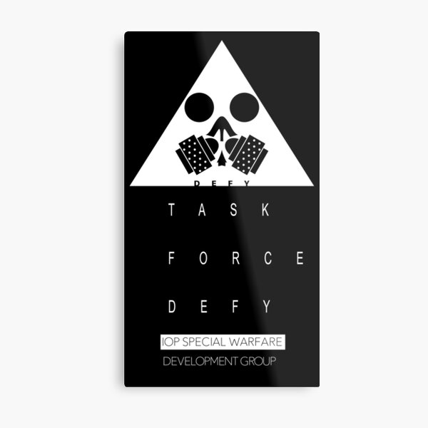 Girls' Frontline Task Force DEFY Metal Print