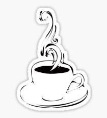 Pegatina rizos de café