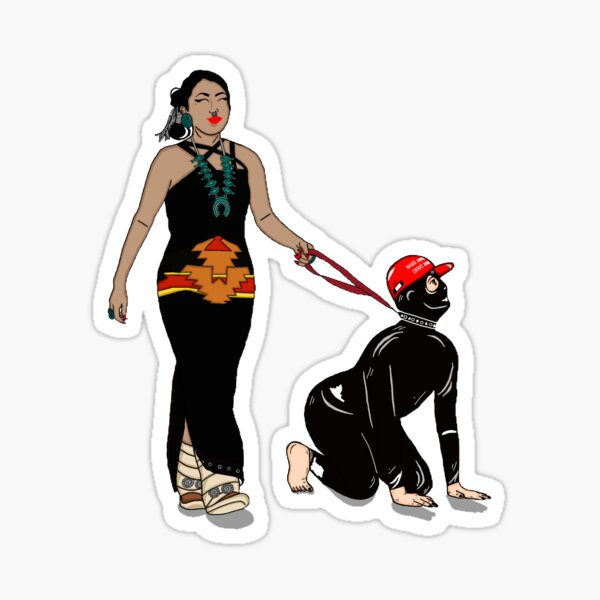 Diné dominatrix  Sticker