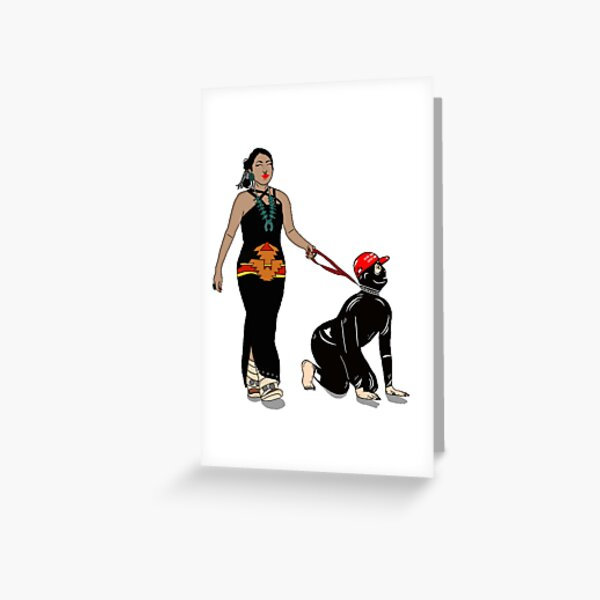 Diné dominatrix  Greeting Card