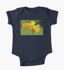 Yellow Canna Lilies One Piece - Short Sleeve