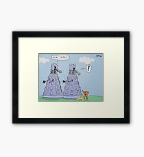 dalek humour Framed Print