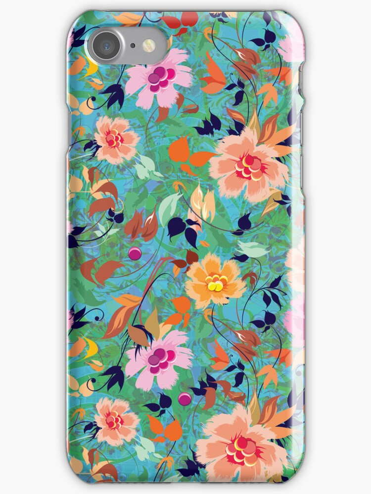 Colorful Abstract Retro Flowers Collage by artonwear
