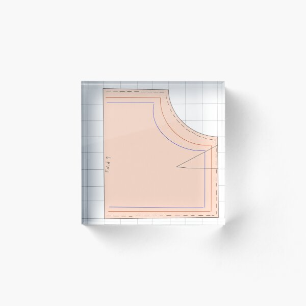 Sewing pattern print for seamstresses Acrylic Block