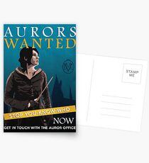 Aurors Wanted Postcards