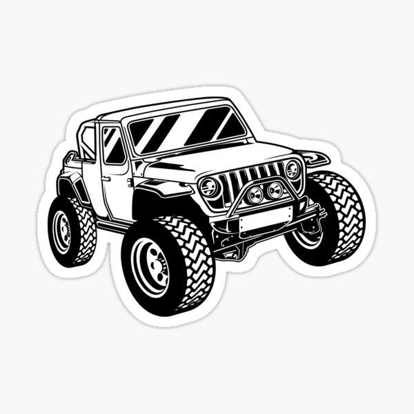 Offroad 4WD Car Sticker