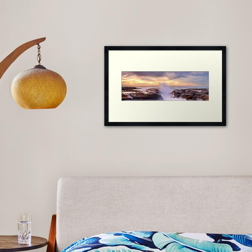 Narrabeen Rocks, New South Wales, Australia Framed Art Print