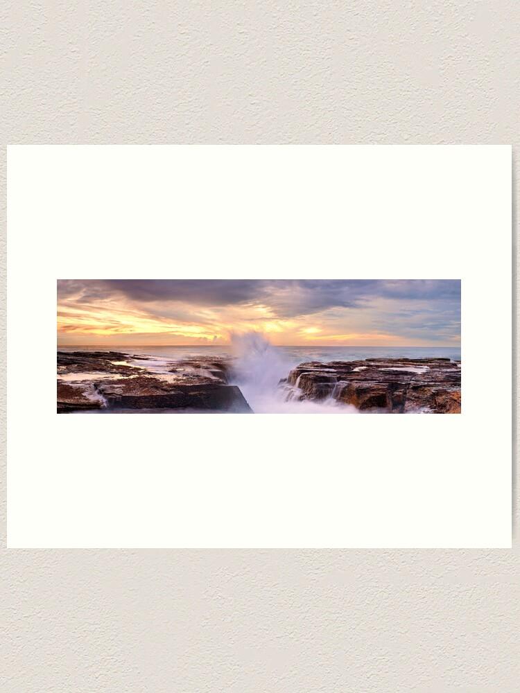 Alternate view of Narrabeen Rocks, New South Wales, Australia Art Print