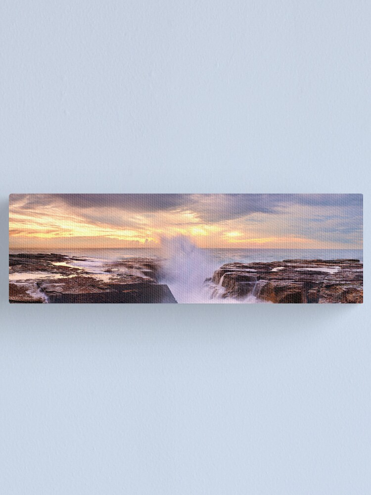 Alternate view of Narrabeen Rocks, New South Wales, Australia Canvas Print