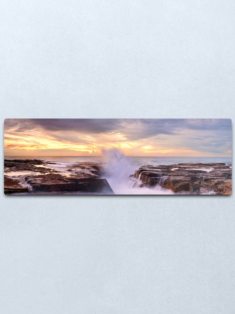 Alternate view of Narrabeen Rocks, New South Wales, Australia Metal Print